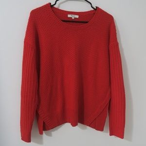 Madewell Red Sweater Small